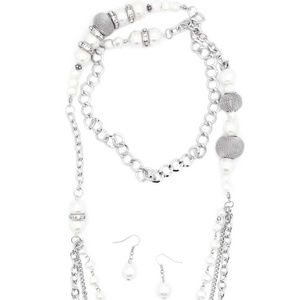 Jewelry - Enmeshed In Elegance - White Necklace Set